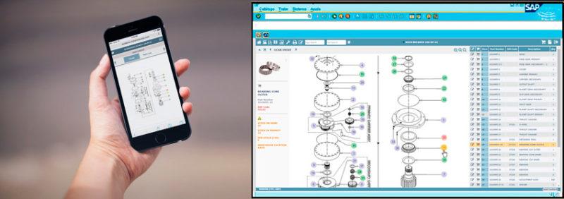 AIC Desktop Mobile interactive graphical parts catalog IPC maintenance electronic