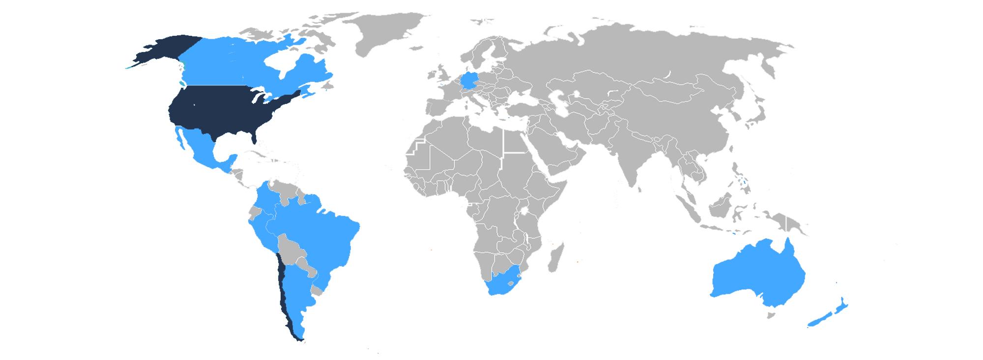 Metanoia Locations Map world