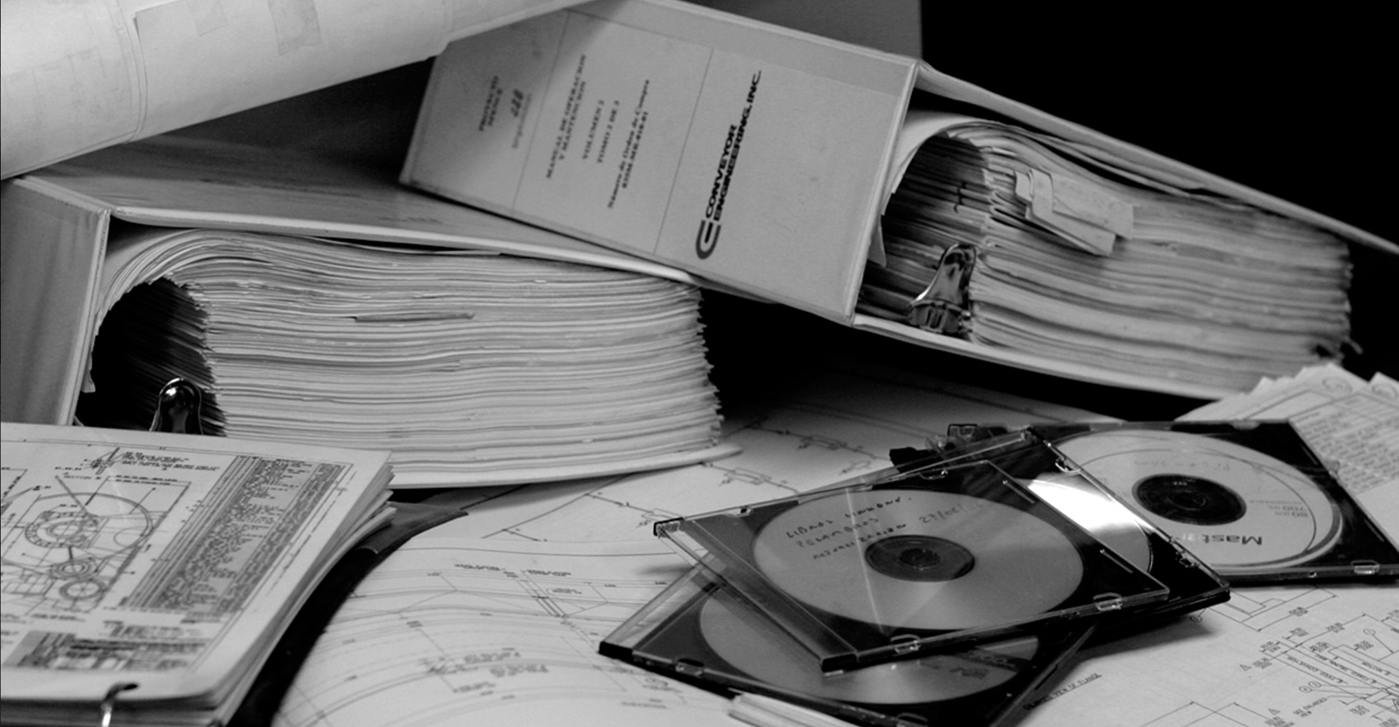 Paper parts catalog old PDF physical mound analog asset management maintenance